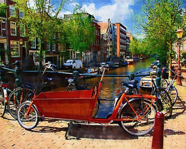 Delivery Bike Print by Tom Reynen