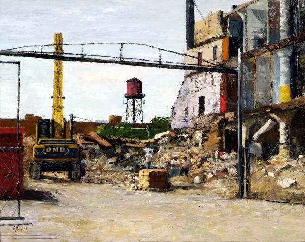 Demolition 4  Print by Nancy Albrecht