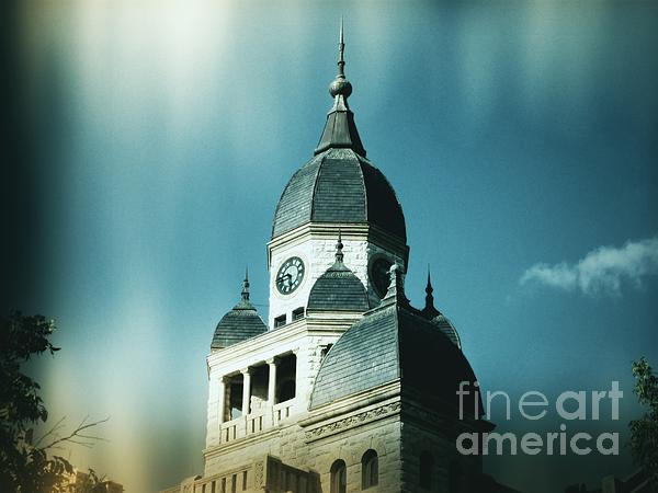 Denton County Courthouse Print by Angela Wright