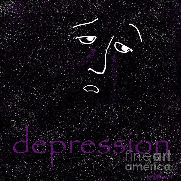 Depression Print by Methune Hively