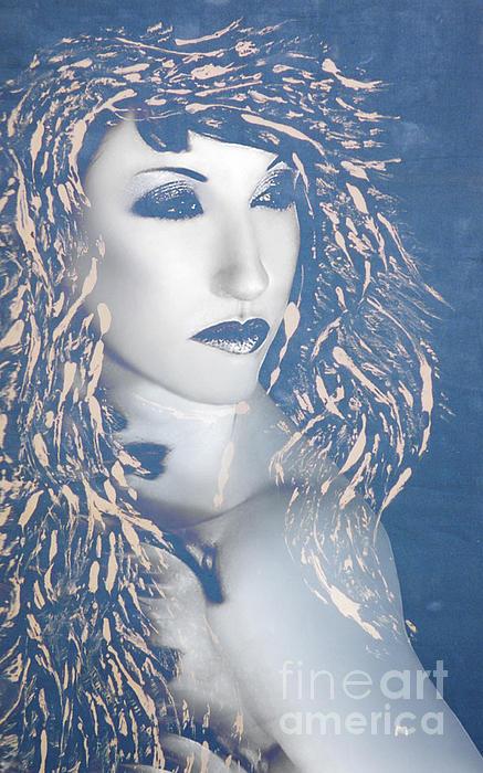 Desdemona Blue - Self Portrait Print by Jaeda DeWalt