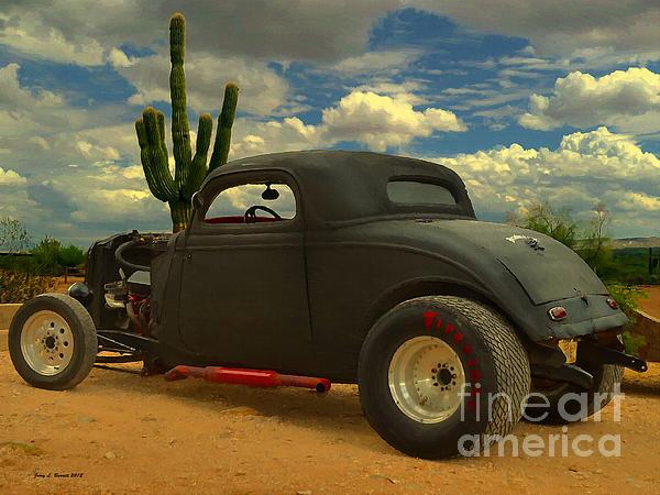 Desert Hot Rod Print by Jerry L Barrett