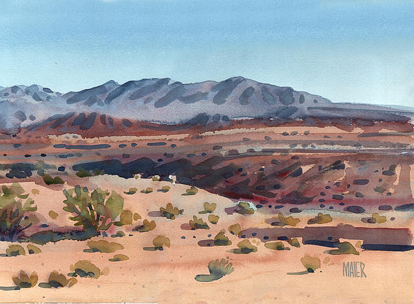 Desert In New Mexico Print by Donald Maier