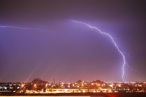Desert Lightning Print by Jennifer Nixon