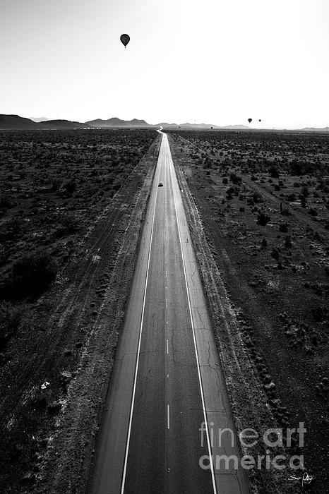 Desert Road Print by Scott Pellegrin