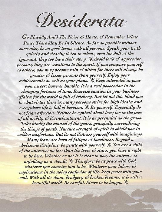 Desiderata 8 Print by Claudette Armstrong