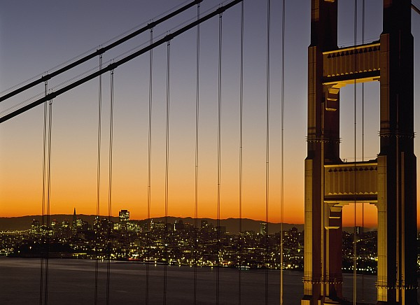 Detail Of The Golden Gate Bridge At Print by Axiom Photographic