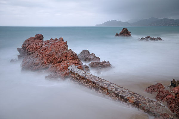 Diagonal Rocks Print by © Yannick Lefevre - Photography