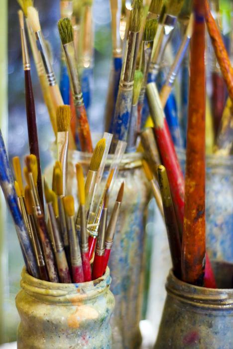 Diana's Brushes Print by Skip Hunt