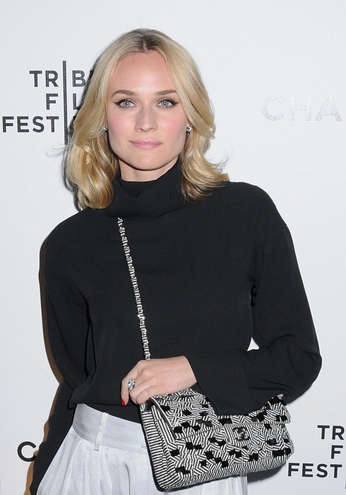 Diane Kruger Carrying A Chanel Bag Print by Everett