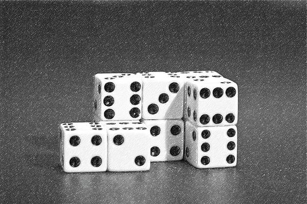 Dice Cubes II Print by Tom Mc Nemar