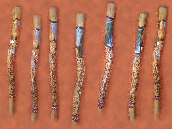 Didgeridoo Print by Janice T Keller-Kimball