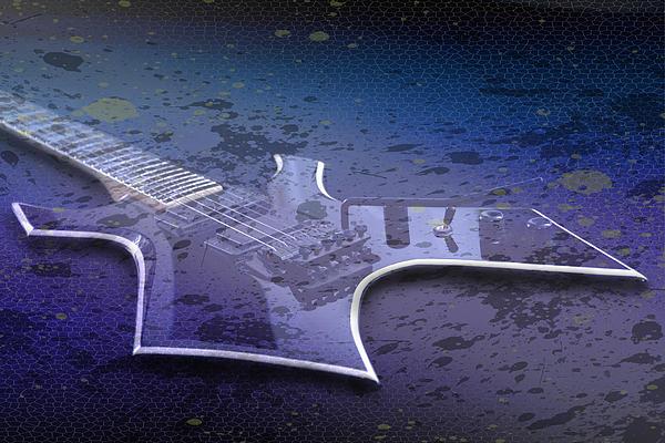 Digital-art E-guitar I Print by Melanie Viola
