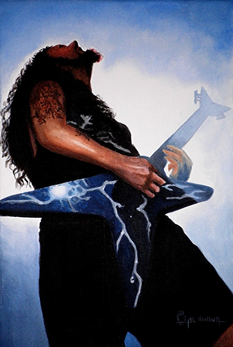 Dimebag Is Gd Electric Print by Al  Molina