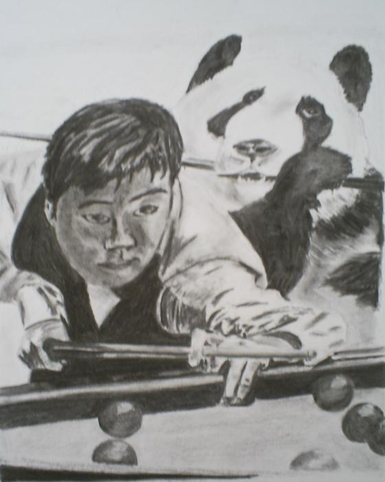 Ding Junhui Snooker Print by James Dolan