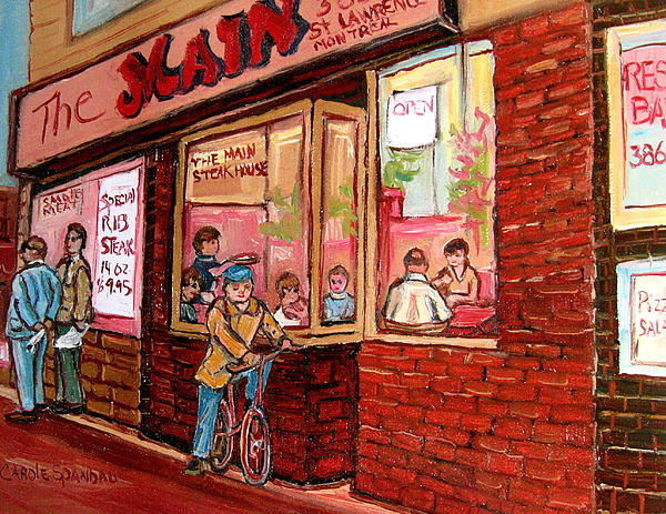 Dinner At The Main Steakhouse Painting  - Dinner At The Main Steakhouse Fine Art Print