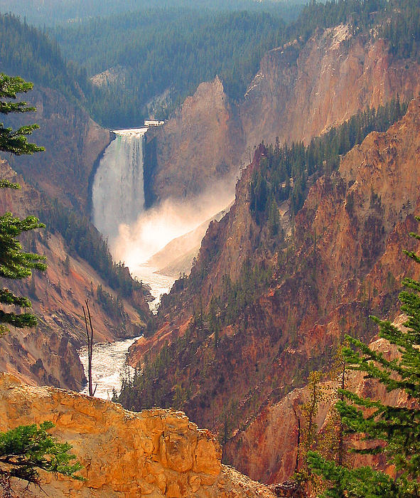 Carol Bruno - Distant Thunder-Lower Waterfall of Yellowstone