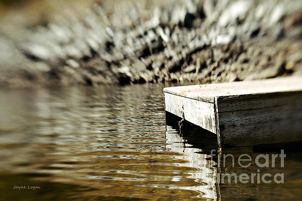 Dockside Shuswap Lake Print by Jayne Logan Intveld