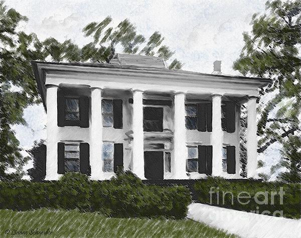Dodd House Georgia Plantation Print by Lianne Schneider