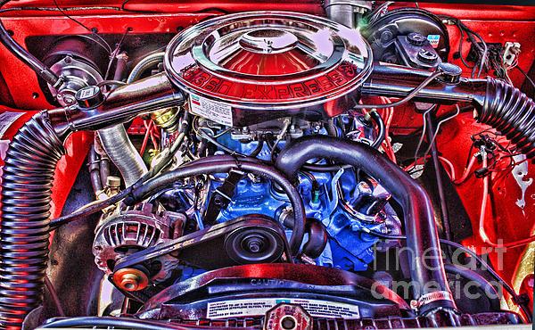 Dodge Motor Hdr Print by Randy Harris