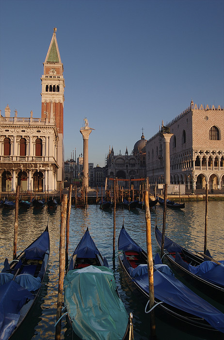Doges Palace And San Marcos Bell Tower Print by Jim Richardson