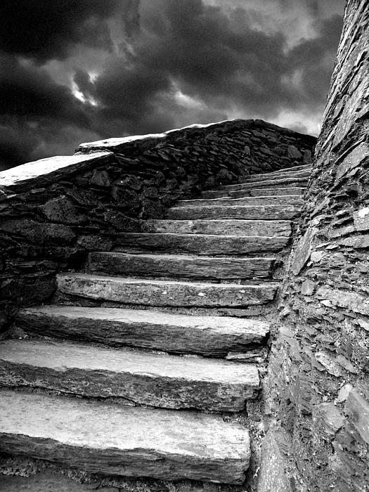 Dolbadarn Castle Steps Print by Duncan Rowe