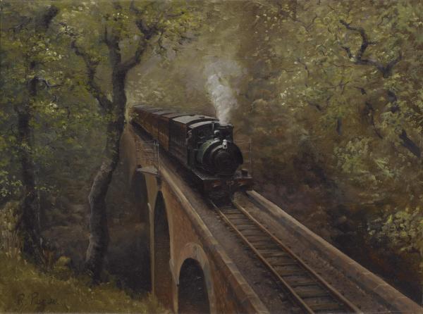Dolgoch Viaduct Print by Richard Picton
