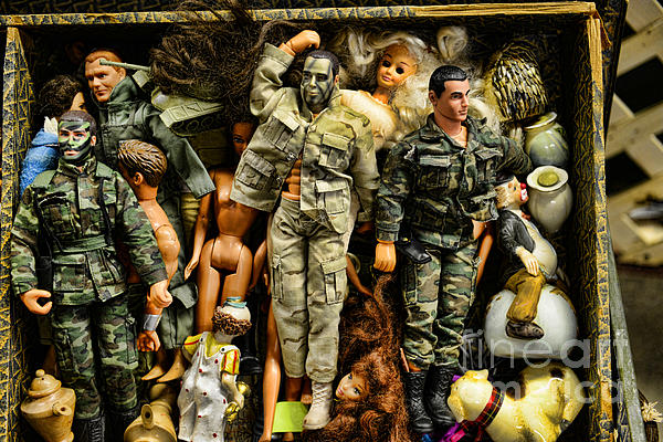 Doll - Gi Joe In Camo Print by Paul Ward