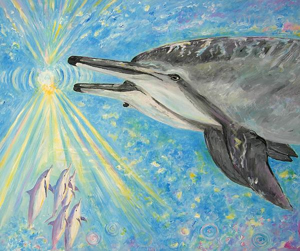 Dolphin Power Print by Tamara Tavernier