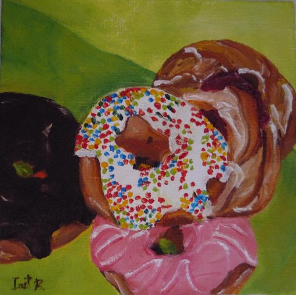 Donuts And Danish Print by Irit Bourla