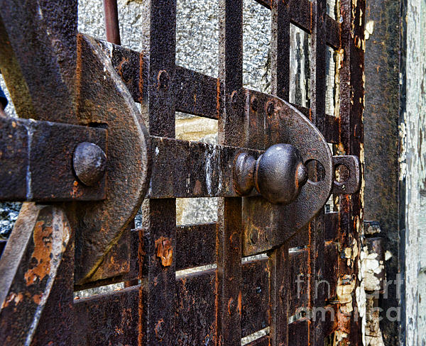 Door To Death Row Print by Paul Ward
