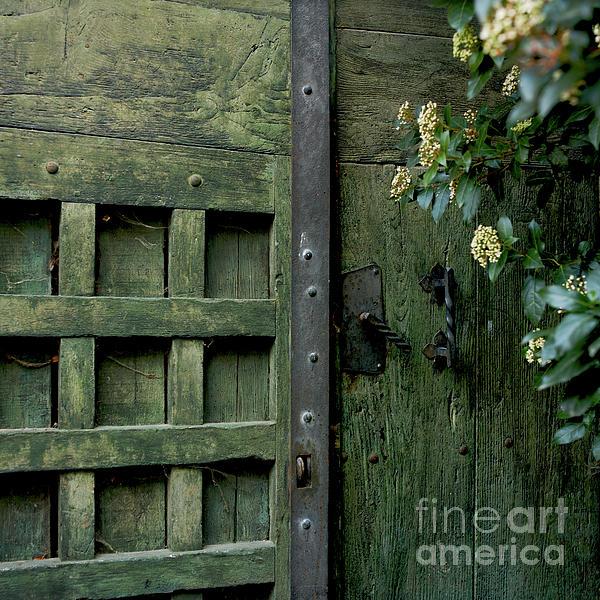 Door With Padlock Print by Bernard Jaubert