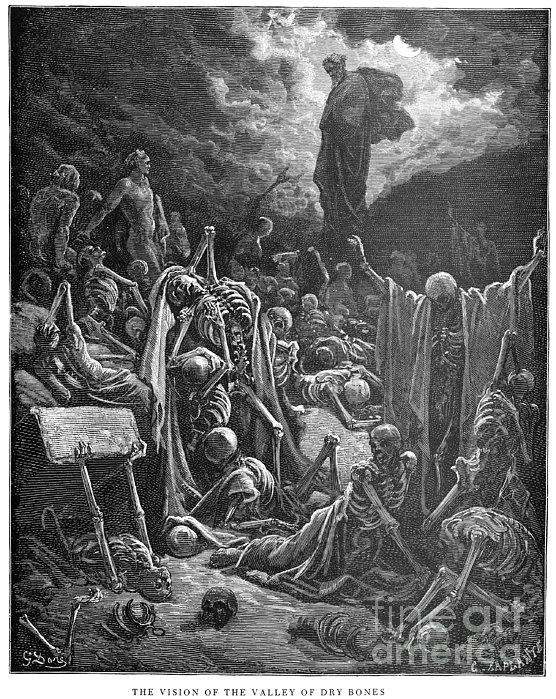 Dor�: Valley Of Dry Bones Print by Granger