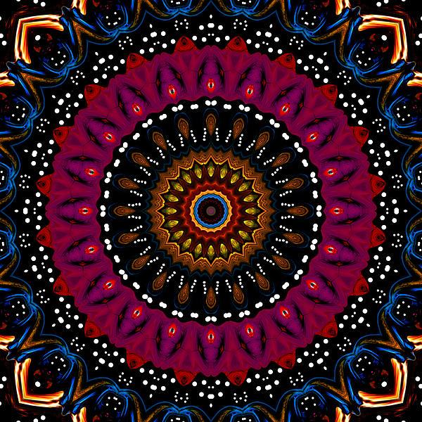 Dotted Wishes No. 5 Kaleidoscope Print by Joy McKenzie