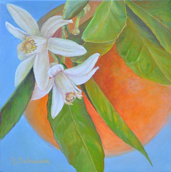 Double Fleur Print by Muriel Dolemieux