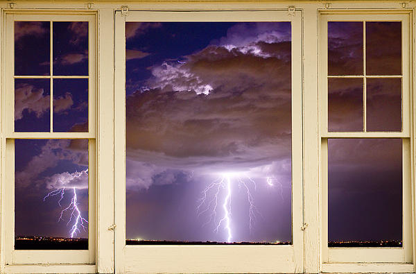 James Bo Insogna - Double Lightning Strike Picture Window