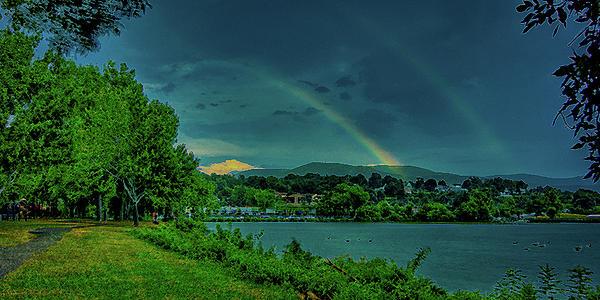 Double Rainbow Print by David Hahn