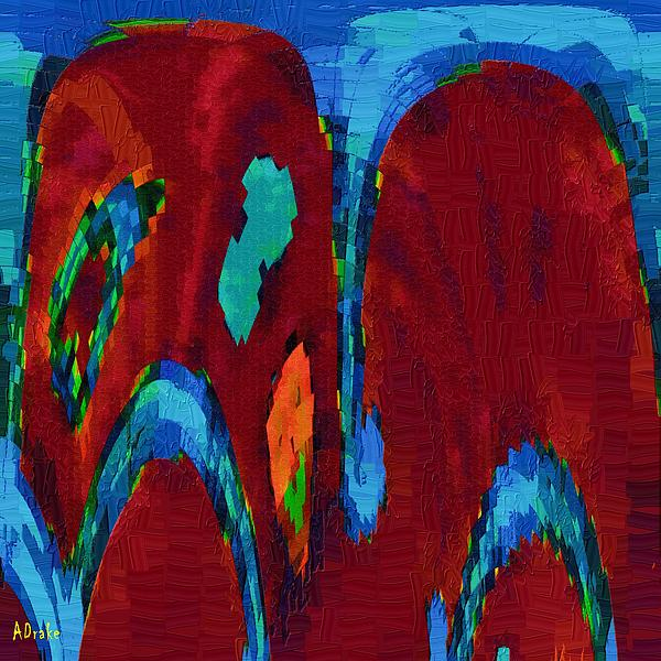 Down On My Knees Print by Alec Drake