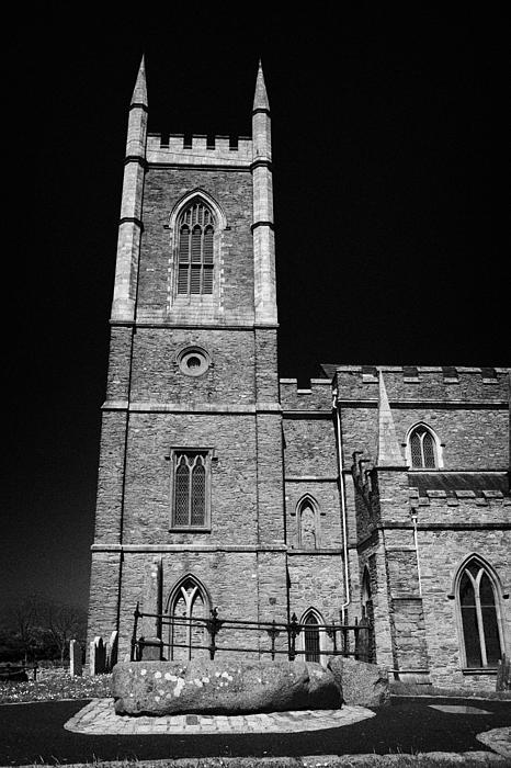 Downpatrick Down Church Of Ireland Cathedral St Patricks Grave Print by Joe Fox