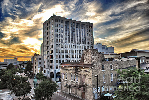 Downtown Appleton Skyline Print by Shutter Happens Photography