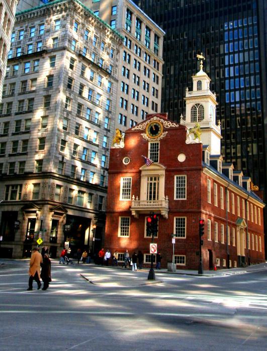 Downtown Boston Print by Trevor Slauenwhite