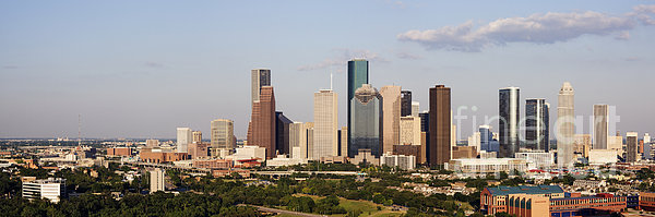 Downtown Houston Skyline Print by Jeremy Woodhouse