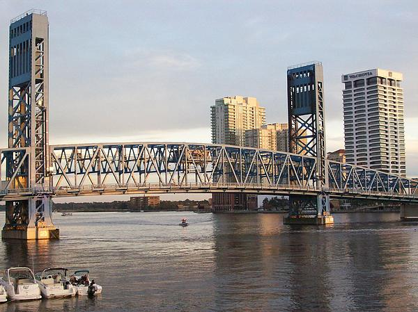 Downtown Jacksonville Print by Tiffney Heaning