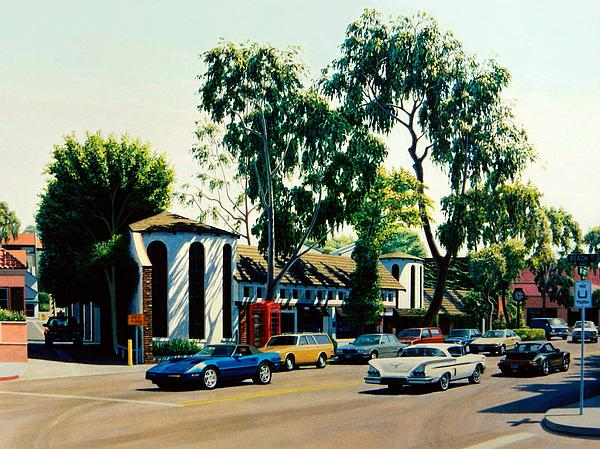Downtown Laguna Beach Print by Frank Dalton