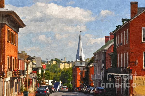Downtown Lexington 3 Print by Kathy Jennings