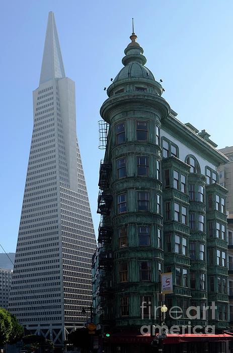 Downtown San Francisco 2 Print by Bob Christopher