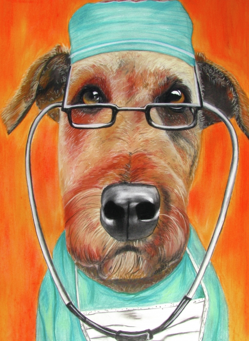 Dr. Dog Painting  - Dr. Dog Fine Art Print