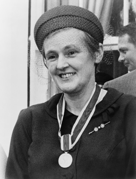 Dr. Frances O. Kelsey, Wearing Print by Everett