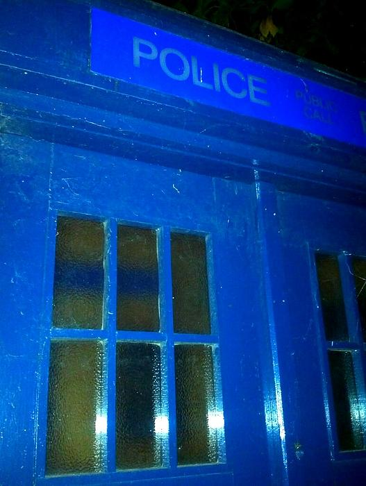 Dr Who Tardis Print by Julie Butterworth