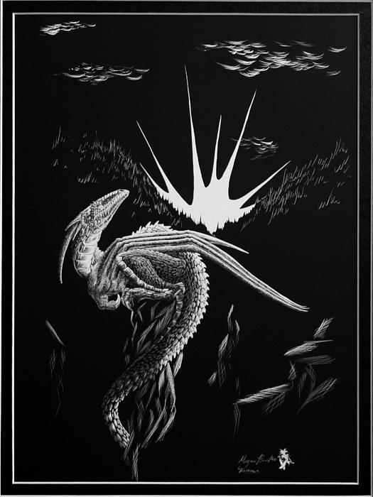 Dragon Rise Print by Morgan Banks